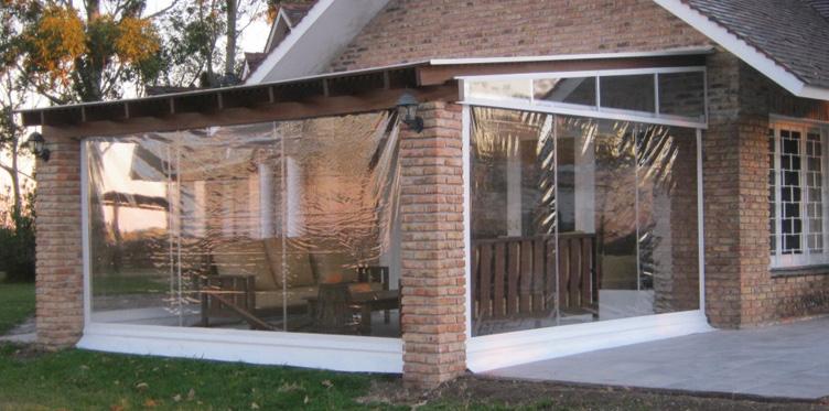 La cl nica cerramientos nacionales en pvc transparente for Toldos y cerramientos para patios